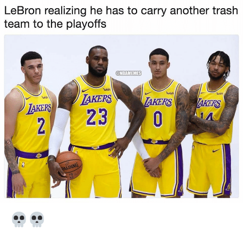 Nba, Trash, and Lebron: LeBron realizing he has to carry another trash  team to the playoffs  NBAMEMES  wish  wish  AKERSTAKERS  urish  wish  AKERS 💀💀