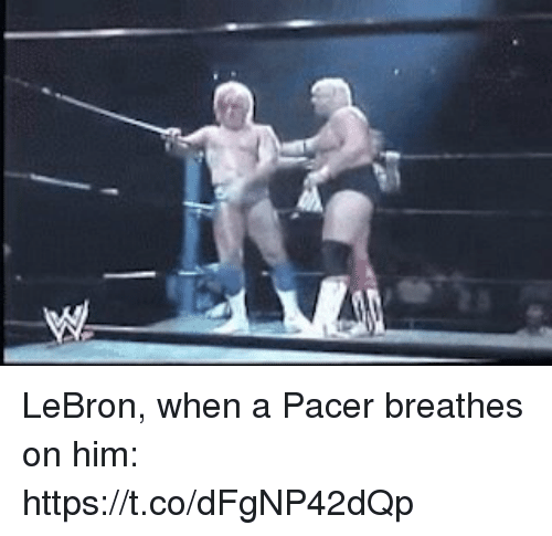 Pacer: LeBron, when a Pacer breathes on him: https://t.co/dFgNP42dQp