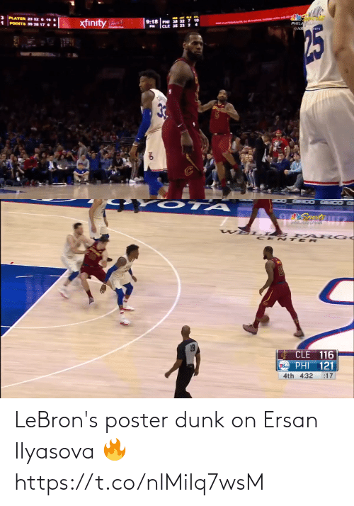 Dunk: LeBron's poster dunk on Ersan Ilyasova 🔥 https://t.co/nIMiIq7wsM