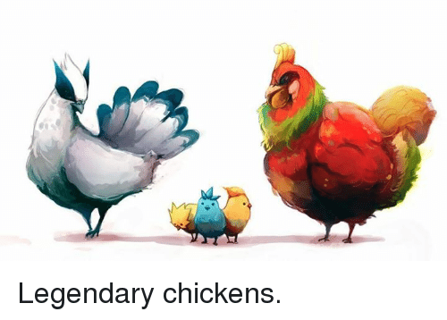 Pokemon: Legendary chickens.