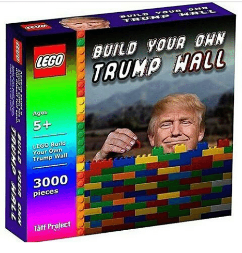 Lego Age: LEGO  Age  5+  Trump Wall  3000  pieces  Taff Project  BUILD YOUR DAN  HALL