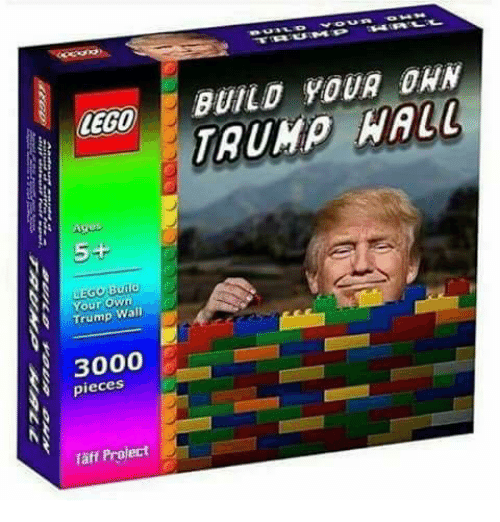 Lego Age: LEGO  Ages  5+  EGO  Build  N Your own  Trump Wall  3000  pieces  Taff Project