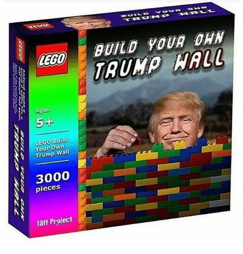 Lego Age: LEGO  Ages  5+  LEGO Build  Your Own  Trump Wall  3000  pieces  Taff Project  BUILD YOUR ORN
