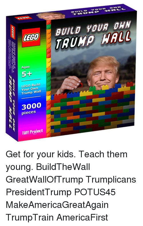 how to build a lego wall