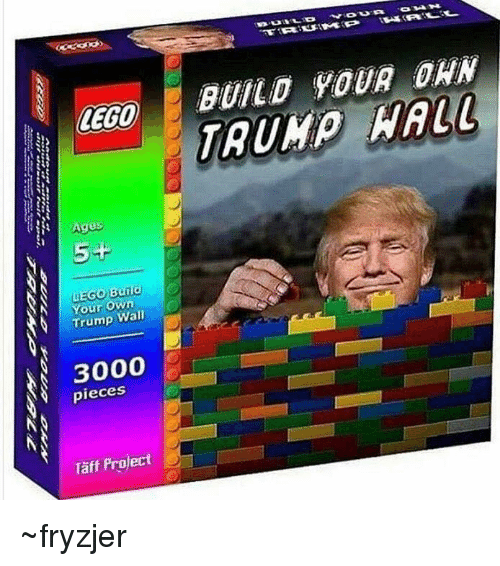 Lego Age: LEGO  Ages  5+  Your own  Trump  Wall  pieces  Taff Project  BUILD YOUR DAN  HALL ~fryzjer
