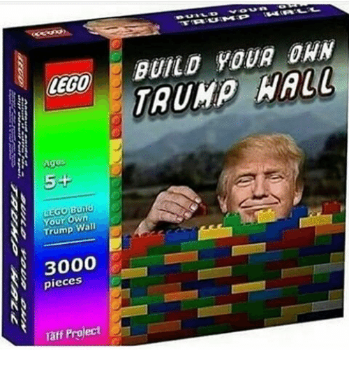 Lego Age: LEGO  Ages  LEGO Build  own  Trump Wall  3000  pieces  Taff Project  BUILD YOUR DAN