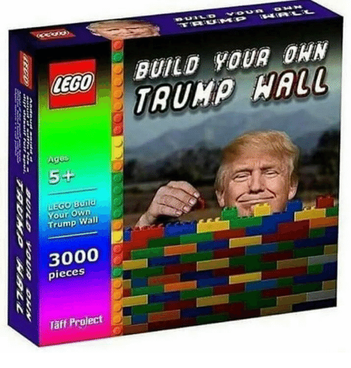 Taff: LEGO  Agus  5+  Build  Your Own  Trump  Wall  3000  pieces  Taff Project  BUILD YOUR DAN  TRUMP  WALL