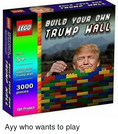 Taff: LEGO  uEGo Your  own  Wall  pieces  Taff Project  BUILD YOUR DAN Ayy who wants to play