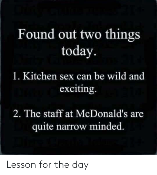 The Day: Lesson for the day