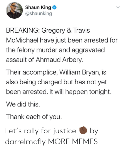 rally: Let's rally for justice ✊🏿 by darrelmcfly MORE MEMES