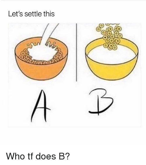Memes, 🤖, and Who: Let's settle this Who tf does B?