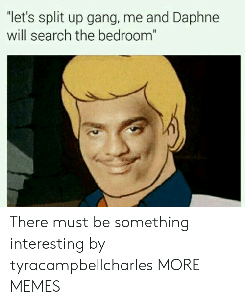 """daphne: """"let's split up gang, me and Daphne  will search the bedroom There must be something interesting by tyracampbellcharles MORE MEMES"""