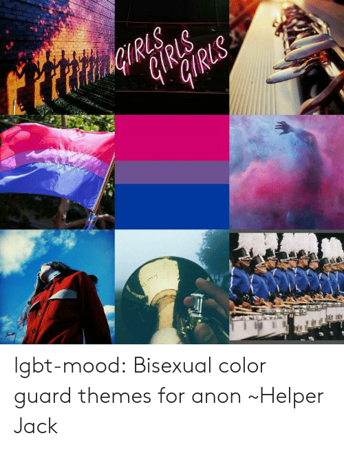 Color Guard: lgbt-mood:  Bisexual color guard themes for anon ~Helper Jack