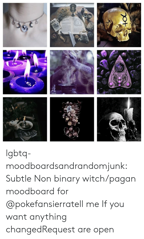 binary: lgbtq-moodboardsandrandomjunk:  Subtle Non binary witch/pagan moodboard for @pokefansierratell me If you want anything changedRequest are open