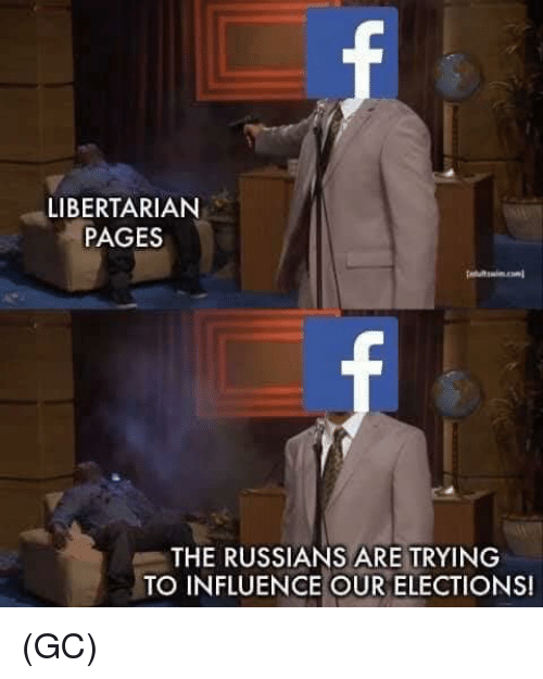 Elections: LIBERTARIAN  PAGES  THE RUSSIANS ARE TRYING  TO INFLUENCE OUR ELECTIONS! (GC)