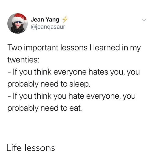 Life: Life lessons