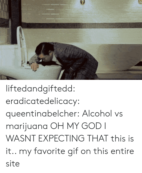 Favorite Gif: liftedandgiftedd:  eradicatedelicacy:  queentinabelcher:  Alcohol vs marijuana  OH MY GOD I WASNT EXPECTING THAT  this is it.. my favorite gif on this entire site