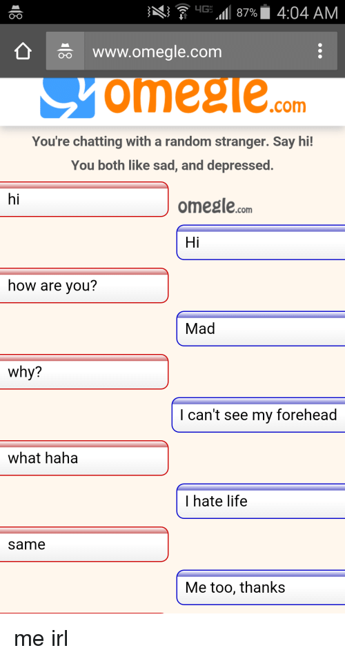 Omegle england chat
