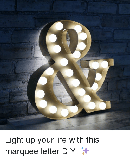 Dank, 🤖, and Letters: Light up your life with this marquee letter DIY! ✨
