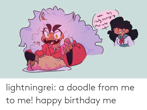 Birthday, Target, and Tumblr: lightningrei:  a doodle from me to me! happy birthday me