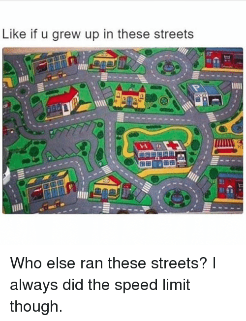 Dank, Streets, and 🤖: Like if u grew up in these streets Who else ran these streets?  I always did the speed limit though.