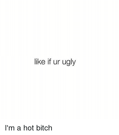 Bitch, Hot Bitches, and Ugly: like if ur ugly I'm a hot bitch