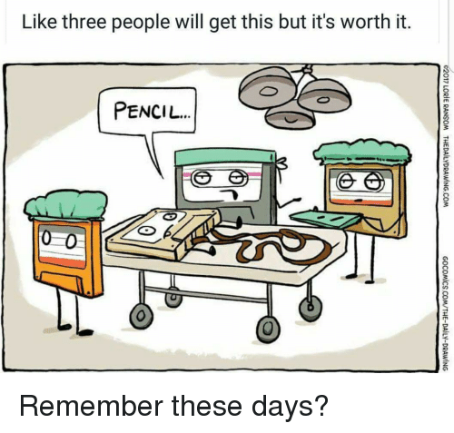 Thathappened, Three, and Will: Like three people will get this but it's worth it.  PENCIL