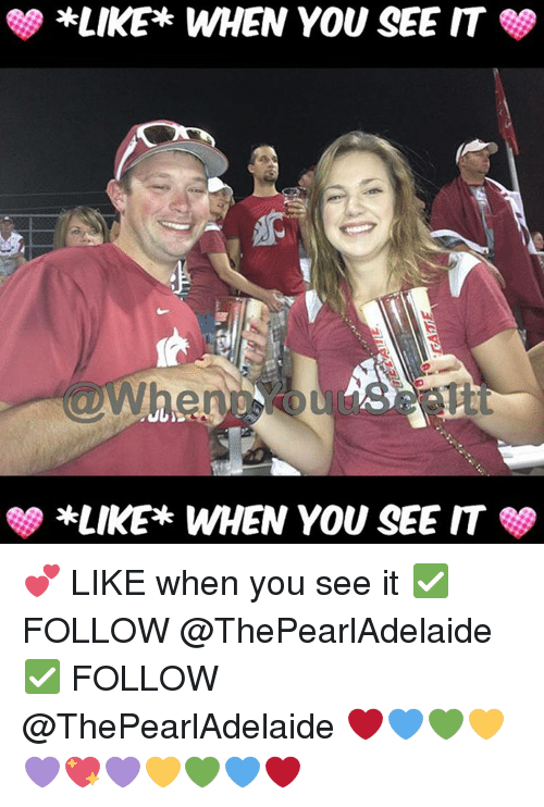 When you see it: *LIKE WHEN YOU SEE IT  *LIKE WHEN YOU SEE IT 💕 LIKE when you see it ✅ FOLLOW @ThePearlAdelaide ✅ FOLLOW @ThePearlAdelaide ❤💙💚💛💜💖💜💛💚💙❤