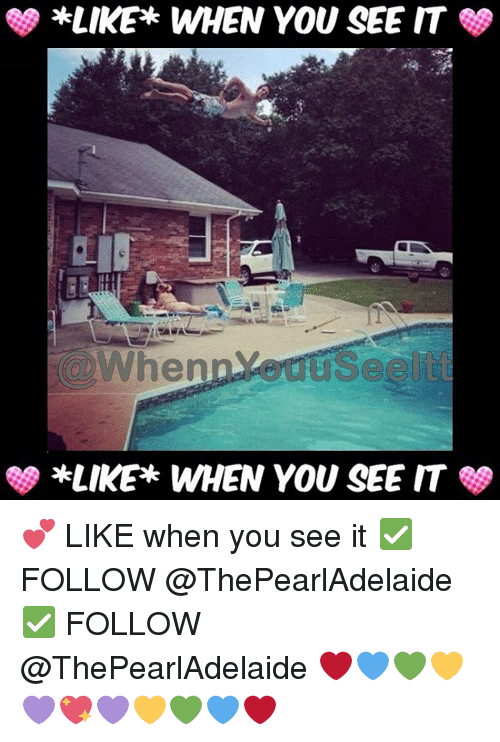 When you see it: *LIKE WHEN YOU SEE IT  When  use it  SS *LIKE WHEN YOU SEE IT 💕 LIKE when you see it ✅ FOLLOW @ThePearlAdelaide ✅ FOLLOW @ThePearlAdelaide ❤💙💚💛💜💖💜💛💚💙❤
