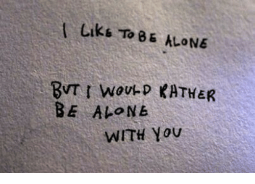 liks: Liks ToB5 ALONE  BE ALONE  WITH You