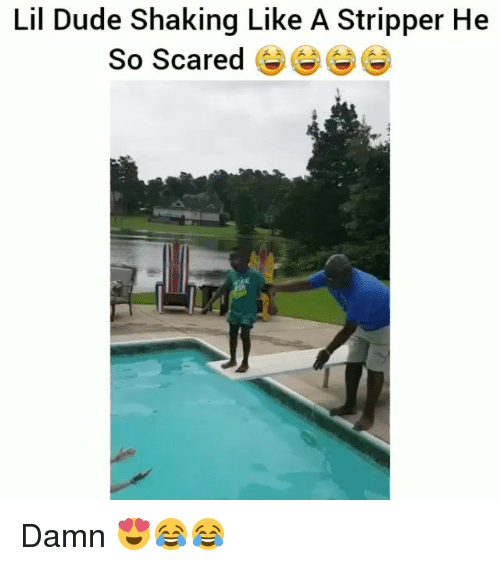 Dude, Funny, and Damned: Lil Dude Shaking Like A Stripper He  So Scared Damn 😍😂😂