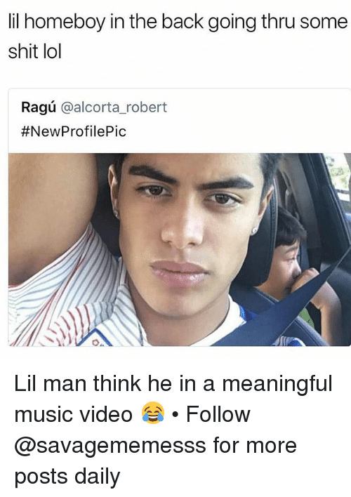 Lol, Memes, and Music: lil homeboy in the back going thru some  shit lol  Ragú @alcorta_robert  Lil man think he in a meaningful music video 😂 • Follow @savagememesss for more posts daily