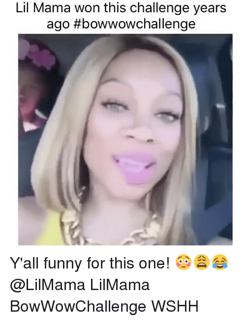 Funny, Lil Mama, and Memes: Lil Mama won this challenge years  ago thbowwowchallenge Y'all funny for this one! 😳😩😂 @LilMama LilMama BowWowChallenge WSHH