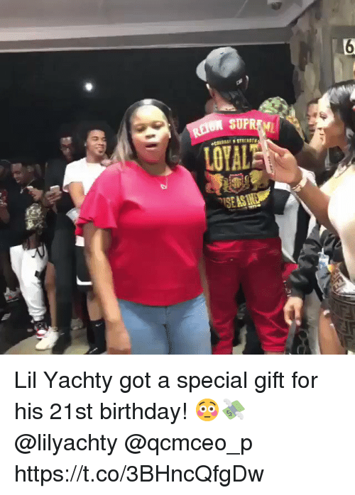 Lil Yachty: Lil Yachty got a special gift for his 21st birthday! 😳💸 @lilyachty @qcmceo_p https://t.co/3BHncQfgDw