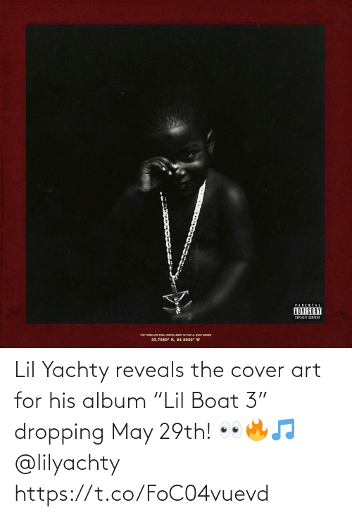 """lil: Lil Yachty reveals the cover art for his album """"Lil Boat 3"""" dropping May 29th! 👀🔥🎵 @lilyachty https://t.co/FoC04vuevd"""