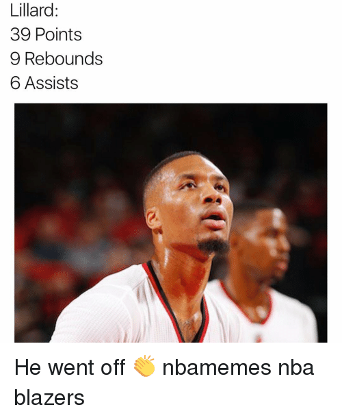 Basketball, Nba, and Sports: Lillard  39 Points  9 Rebounds  6 Assists He went off 👏 nbamemes nba blazers