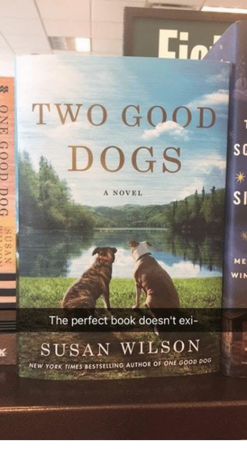 novell: Lin  TWO GOOD  SC  DOGS  A NOVEL  SI  ME  WIN  The perfect book doesn't exi  、 SUSAN WILSON  NEW YORK TIMES BESTSELLING AUTHOR OF ONE GOOD DOG