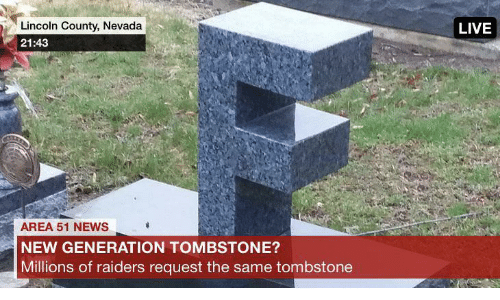 Nevada: Lincoln County, Nevada  LIVE  21:43  AREA 51 NEWS  NEW GENERATION TOMBSTONE?  Millions of raiders request the same tombstone