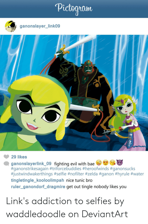 links: Link's addiction to selfies by waddledoodle on DeviantArt
