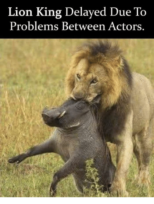 Delayed: Lion King Delayed Due To  Problems Between Actors.