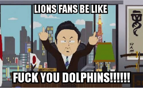 Lions: LIONS FANS BELLIKE  FUCK YOU DOLPHINS!!!!!!