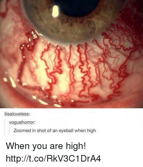 You Are High: lisaloveless  voguehorror:  Zoomed in shot of an eyeball when high When you are high! http://t.co/RkV3C1DrA4