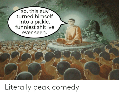 Comedy: Literally peak comedy