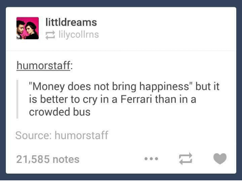 money does not bring haapiness
