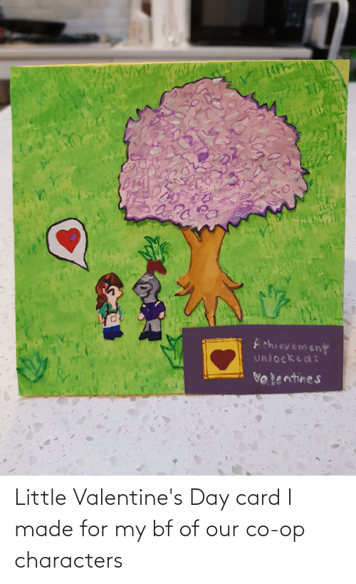 valentines day card: Little Valentine's Day card I made for my bf of our co-op characters