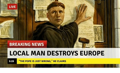 """News, Pope Francis, and Breaking News: LIVE  BREAKING NEWS  LOCAL MAN DESTROYS EUROPE  9:28  """"THE POPE IS JUST WRONG,"""" HE CLAIMS"""