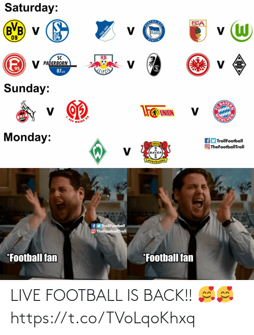 Football: LIVE FOOTBALL IS BACK!! 🥰🥰 https://t.co/TVoLqoKhxq