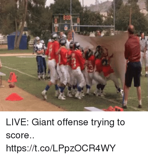 Football, Nfl, and Sports: LIVE: Giant offense trying to score.. https://t.co/LPpzOCR4WY