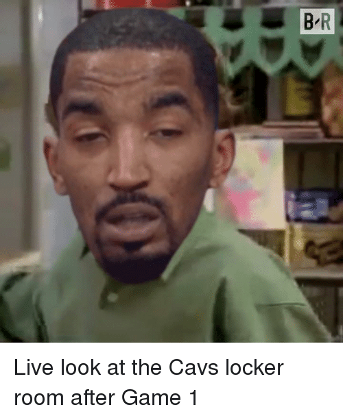 Cavs, Game, and Live: Live look at the Cavs locker room after Game 1