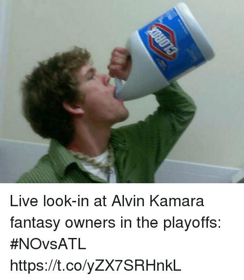 Sports, Live, and Fantasy: Live look-in at Alvin Kamara fantasy owners in the playoffs: #NOvsATL https://t.co/yZX7SRHnkL
